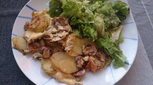 omelette pomme de terre champignons (2)