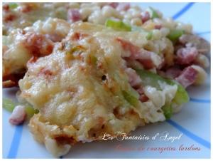 Gratin courgettes lardons (4)