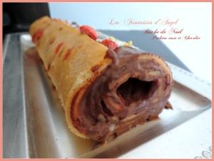 Bûche aux pralines roses et chocolat (1)