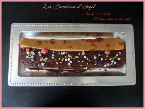 Bûche aux pralines roses et chocolat (3)
