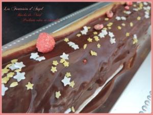 Bûche aux pralines roses et chocolat (5)