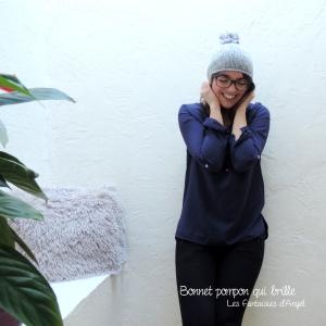 Bonnet à pompon qui brille (3)